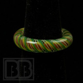 Marni Schnapper x Harold Cooney - Rasta Twist Colored Glass Ring Collab (Size 6.5)