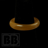 Marni Schnapper - Peach Colored Glass Ring (Size 6.5)