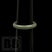 Marni Schnapper - Grey Colored Glass Ring (Size 6.5)