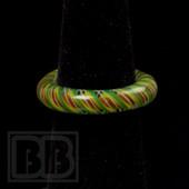 Marni Schnapper x Harold Cooney - Rasta Twist Colored Glass Ring Collab (Size 7)