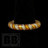Marni Schnapper x Harold Cooney - Transparent Orange & Red Twist Colored Glass Ring Collab (Size 7)