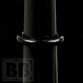 Marni Schnapper - Onyx Black Glass Ring (Size 6.5)
