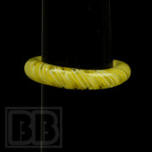 Marni Schnapper x Harold Cooney - Transparent Yellow and White Twist Colored Glass Ring Collab (Size 8)