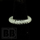 Marni Schnapper x Harold Cooney - Light White Blizzard Colored Glass Ring Collab (Size 6)