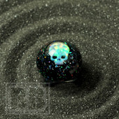 Cajun Glass Designs - Crushed Opal Ring with Skull Opal (Size 7)