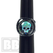 Cajun Glass Designs - Crushed Opal Ring with Skull Opal (Size 8)