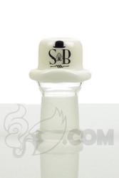 Sheldon Black - 19mm White Derby Dome with SB Logo