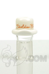 Sheldon Black - 14mm White Derby Dome with Copper Signature Logo Detail 1