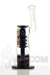 Sheldon Black - Black Short Triple Stack Bubbler with Tightwire Logo Front