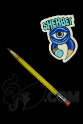 Sherbet Glass - Glass Pencil Dabber Yellow Shade Citrus with Green Tip