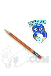 Sherbet Glass - Glass Pencil Dabber Serendipity with Teal Tip