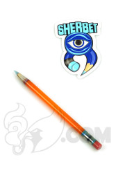 Sherbet Glass - Glass Pencil Dabber Orange Shade Citrus with Light Blue Tip