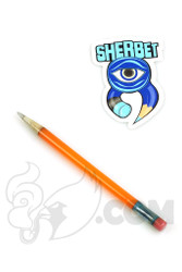Sherbet Glass - Glass Pencil Dabber Orange Shade Citrus with Grey Tip