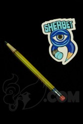 Sherbet Glass - Glass Pencil Dabber Transparent Yellow Shade Citrus with Dark Green Tip