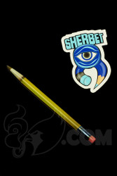 Sherbet Glass - Glass Pencil Dabber Transparent Yellow Shade Citrus with Brown Tip
