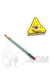 Sherbet Glass - Mini Light Blue Glass Pencil Dabber with Brown Tip