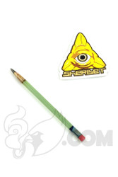 Sherbet Glass - Mini Light Green Glass Pencil Dabber with Greenish Tip