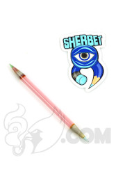 Sherbet Glass - Double Ended Serum Glass Pencil Dabber