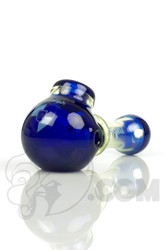 Illadelph - Blue and Slyme Spoon Hand Pipe with New Blue Label Front