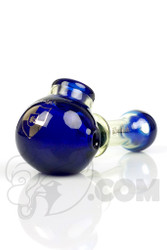 Illadelph - Blue and Slyme Spoon Hand Pipe with Platinum Label Front