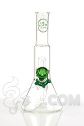Left Coast - 5mm Disc UFO Micro Beaker with Green Label Front
