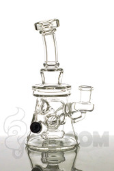 Dynamic Glass - V2 Fab Beaker with Copper and White Bead Side 2