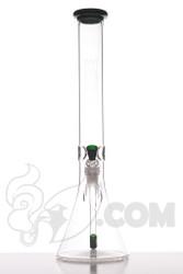 "Ill Glass - 17"" Green Money Beaker Front"