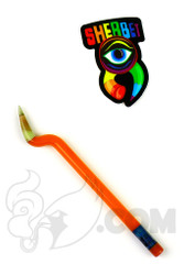 Sherbet Glass - Bent Orange Glass Pencil Dabber