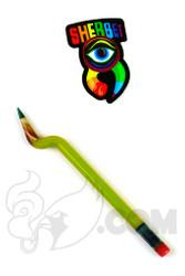 Sherbet Glass - Bent Chartreuse Glass Pencil Dabber
