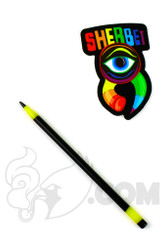 Sherbet Glass - Mini Black and Yellow Glass Pencil Dabber
