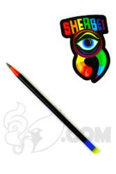Sherbet Glass - Mini Black Multi-Color Glass Pencil Dabber
