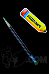 Sherbet Glass - Glass Pencil Dabber UV Lucy with Teal Tip