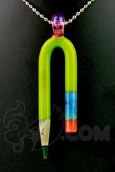 Sherbet Glass - U-Pencil Chartreuse Pendant Dabber