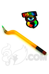 Sherbet Glass - Bent Yellow Shade Citrus Glass Pencil Dabber