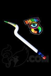 Sherbet Glass - Bent White Glass Pencil Dabber