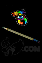 Sherbet Glass - Mini UV Peach Glass Pencil Dabber with Green Tip