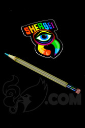Sherbet Glass - Mini UV Peach Glass Pencil Dabber with Teal Tip