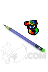 Sherbet Glass - Glass Pencil Dabber Matte Blue with Slyme Eraser