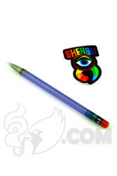 Sherbet Glass - Glass Pencil Dabber Matte Blue with Teal Tip