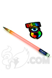 Sherbet Glass - Glass Pencil Dabber Matte Pink with Grey Tip