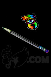 Sherbet Glass - Glass Pencil Dabber UV Lucy with Purple Eraser