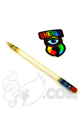 Sherbet Glass - Glass Pencil Dabber CFL Sunset Slyme