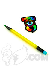 Sherbet Glass - Glass Pencil Dabber Yellow and Black