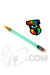 Sherbet Glass - Glass Pencil Dabber Lunar Rays with Yellow Tip
