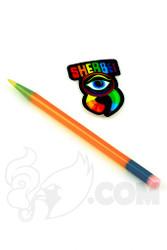 Sherbet Glass - Glass Pencil Dabber Orange with Multi-color Accents