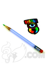Sherbet Glass - Glass Pencil Dabber Light Blue with Green Tip