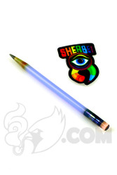 Sherbet Glass - Glass Pencil Dabber Light Blue with Serum Eraser