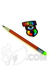 Sherbet Glass - Glass Pencil Dabber Dark Red with Slyme Eraser