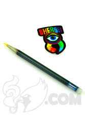 Sherbet Glass - Glass Pencil Dabber Grey with Yellow Tip