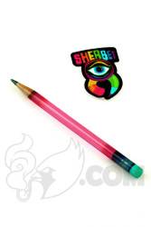 Sherbet Glass - Glass Pencil Dabber Gold Ruby